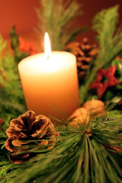 Adventsgesteck Weihnachten