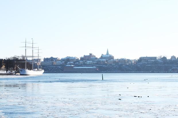 Stockholm Schiff Skyline