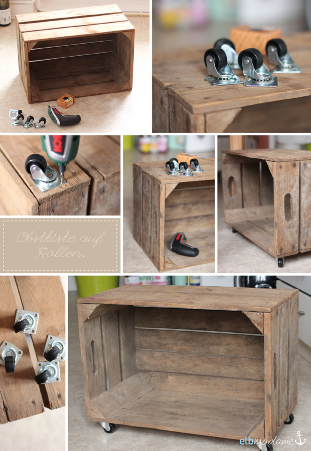 diy obstkiste auf rollen und k sten mit tafelfarbe f r. Black Bedroom Furniture Sets. Home Design Ideas