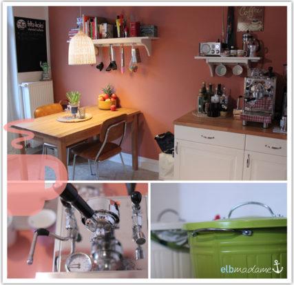 Küche Kaffeemaschine Gesamt Mülleimer