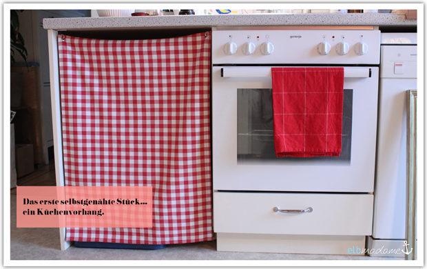 selbstgenäht küche vorhang ösen metall textil