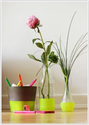 neon vase sprühen lackieren