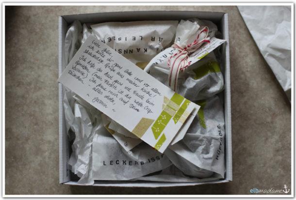schokoladige post aus meiner küche verpackung