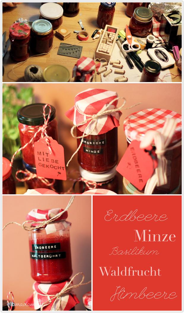 marmelade dekoration verzierung stoff karomuster paketband