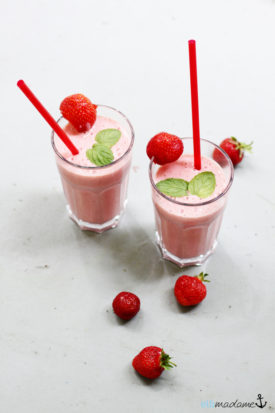 Erdbeere Lassi Joghurt Minze