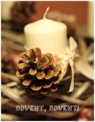 Adventskranz 2012 Winter selbst gemacht Weihnachtsdeko