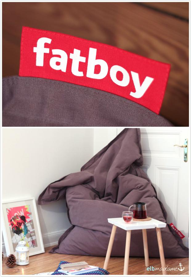 fatboy original canvas dunkelgrau neu