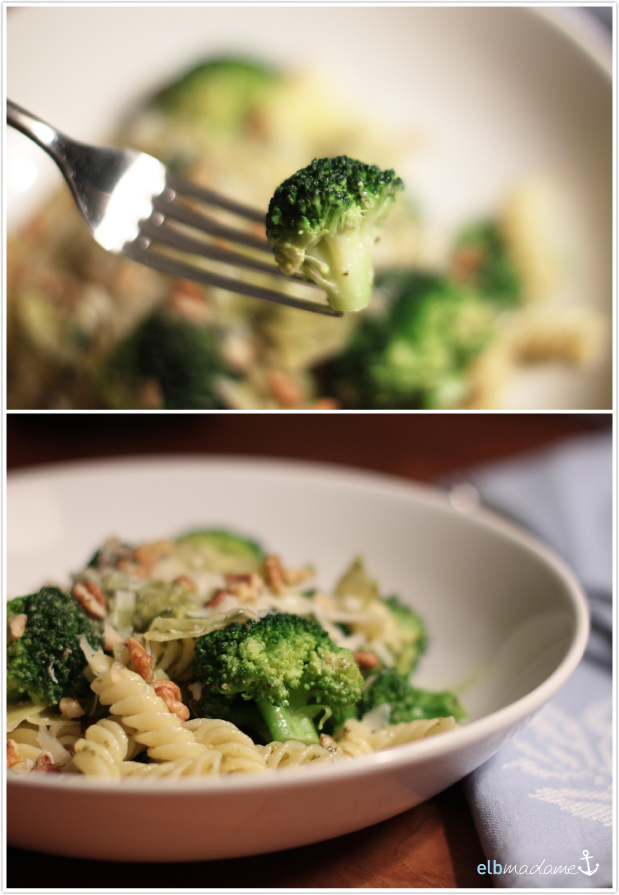 fabul se pasta mit brokkoli pesto und waln ssen elbmadame. Black Bedroom Furniture Sets. Home Design Ideas
