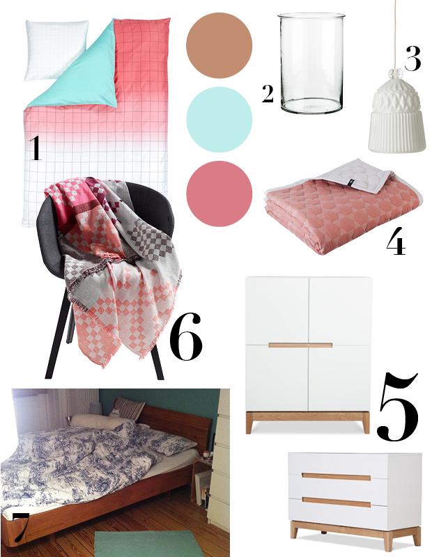 Schlafzimmertraum Collage Möbel