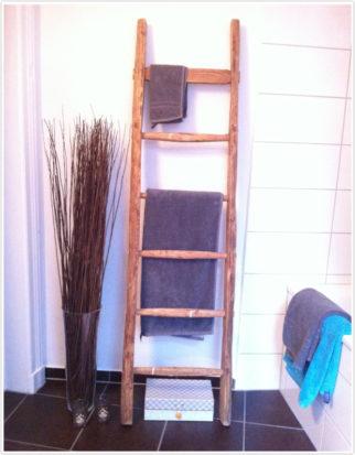 Holzleiter DIY Badezimmer Handtuchhalter