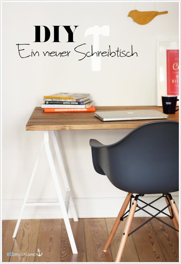 DIY Schreibtisch Holz Bock IKEA Kiefer