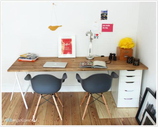 Schreibtisch selber bauen IKEA