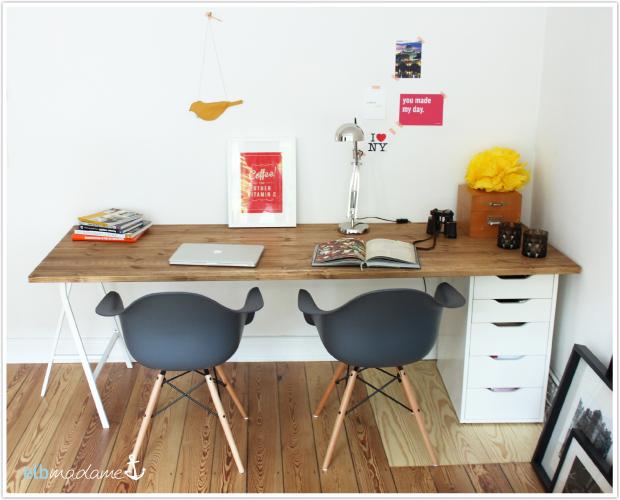 Schreibtischplatte aus echtem Holz