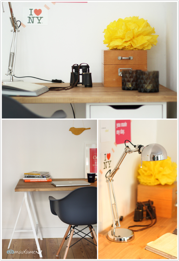 DIY-Schreibtisch mit Holzplatte