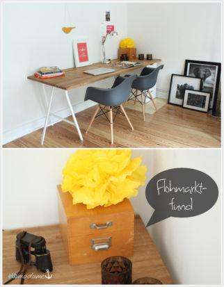 Schreibtisch selber bauen IKEA DIY