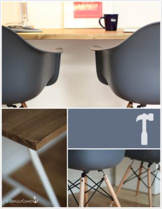 Schreibtisch selber bauen Eames Replika