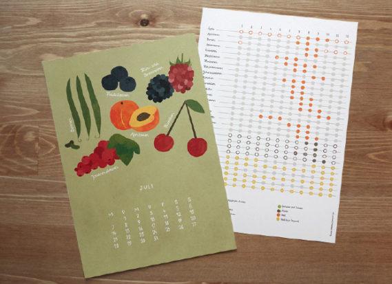 anmutig saisonkalender grafikdesign