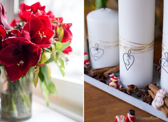 Toll was Blumen machen DIY Adventsgesteck