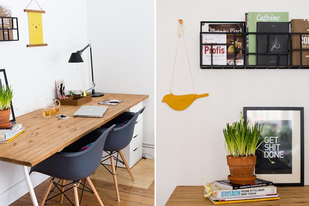 Schreibtisch DIY interior design living home Pappsalon