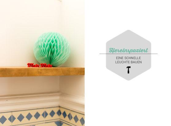 DIY Leuchte WC Altbau Textilkabel