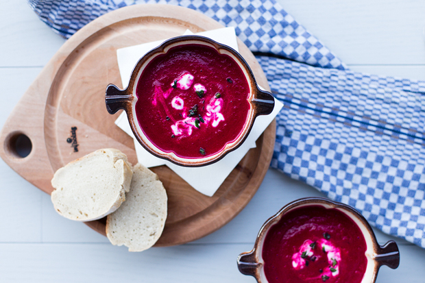 Cremige Rote Bete Suppe