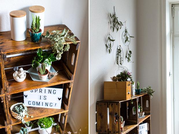 Fr hling diy und schnelle deko idee mit pflanzen f r zuhause - Pflanzen deko wohnzimmer ...