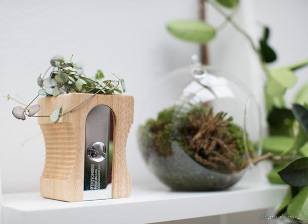Anspitzer Vase Blumentopf Holz
