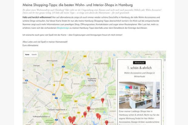 elbmadame Shopping Karte