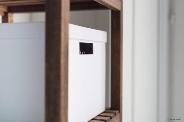 IKEA Boxen im Badezimmer mit Molger Regal