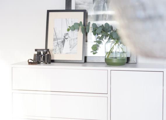 Stauraum mycs Sideboard weiß