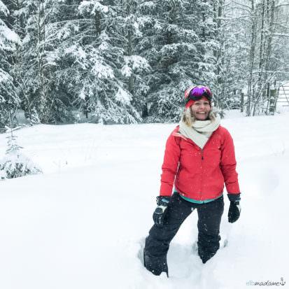 Elbmadame im Schnee