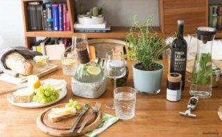 Gedeckter Tisch für Brotzeit