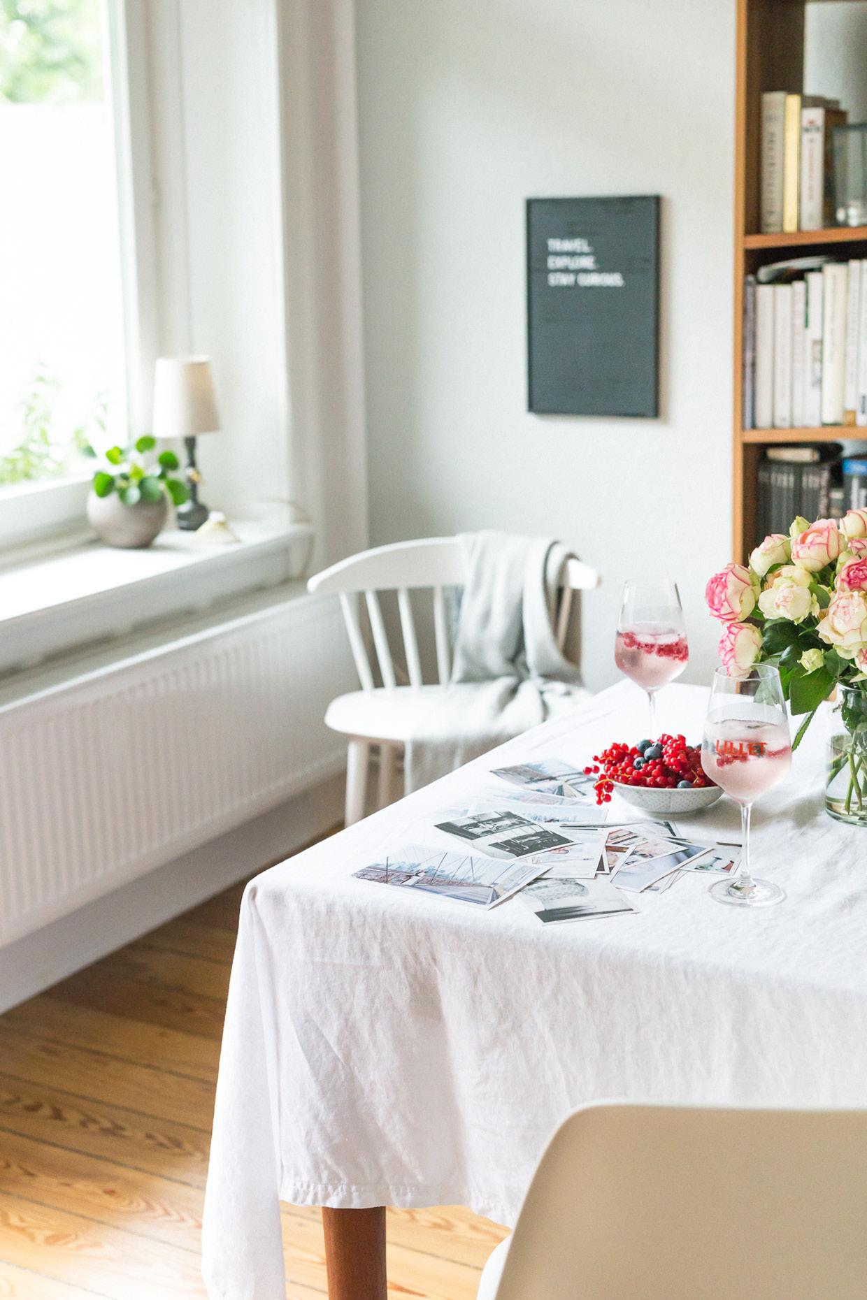 Altbau Rosen Esszimmer weiß Lillet