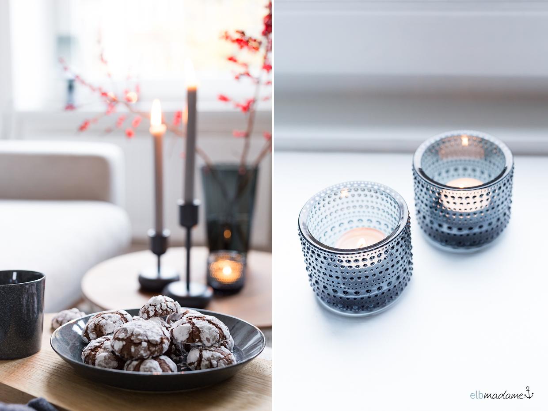 Weihnachtskekse und Teelichthalter