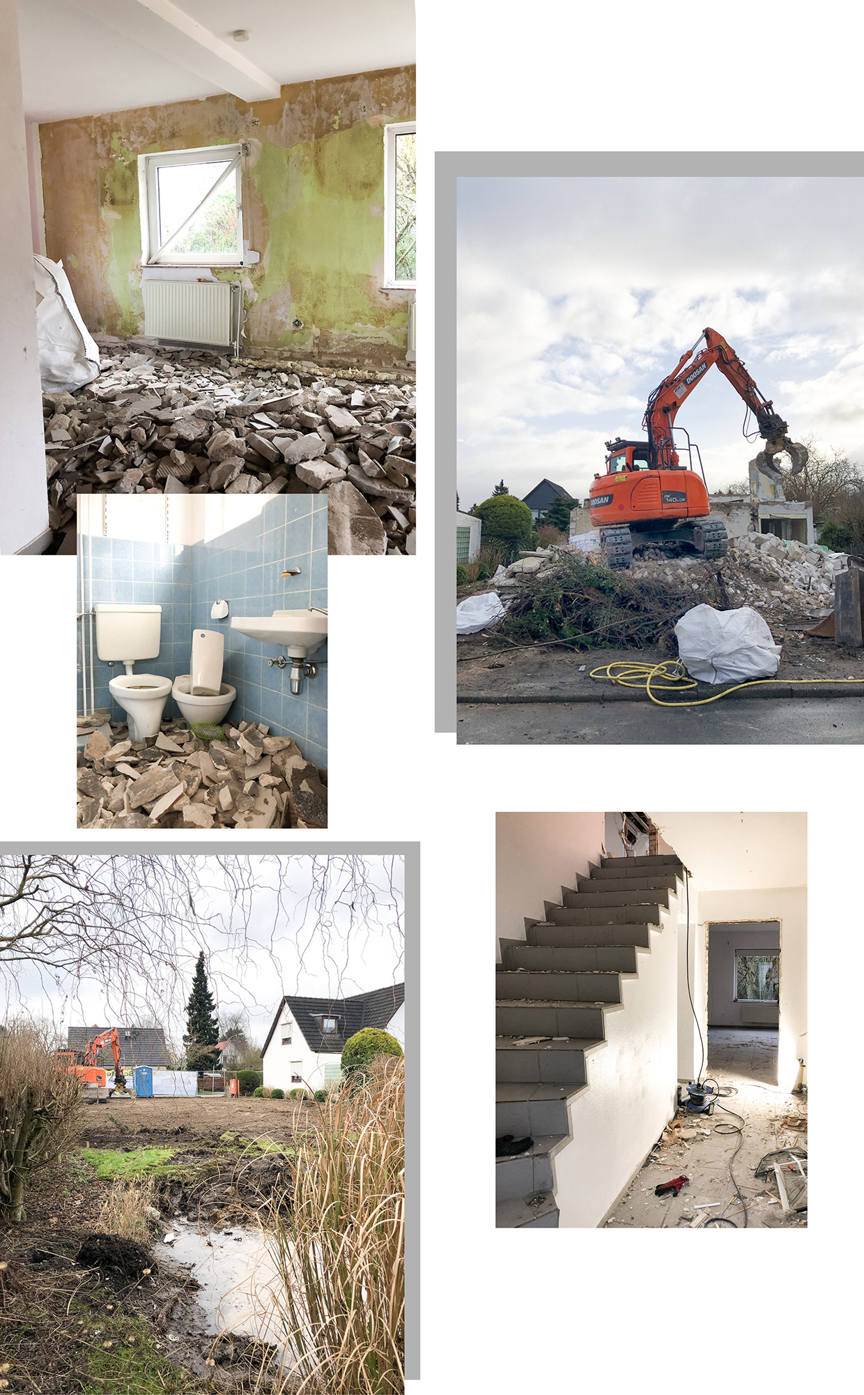 Abbruch Abriss Hausbau Siedlungshaus Hamburg Dachstuhl Zweifamilienhaus Hausabriss Hausabbruch